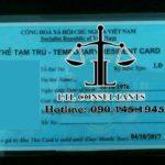 Thẻ tạm trú tiếng anh là gì?