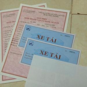 giấy phép vận tải